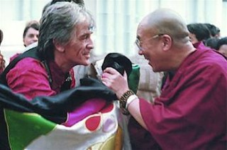 Dheeraj with the Dalai Lama